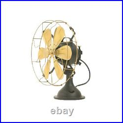 12 Blade Electric Table Desk Fan Oscillating Work 3 Speed Vintage Antique style
