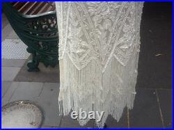 1920's Style NEW Flapper Handbeaded Dress Cream