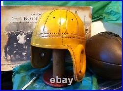 1940 Greenbay Packer Yellow Style Leather Football helmet