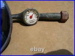 1940s Antique Joma Thermometer Mirror Automobile Vintage Chevy Ford Jalopy trog