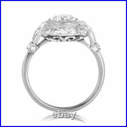 2.81 Ct Diamond Vintage Royal Antique Style Engagement Ring 925 Sterling Silver
