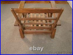 54995 Hickory Solid Oak Arts & Crafts Style Adjustable Back Chair