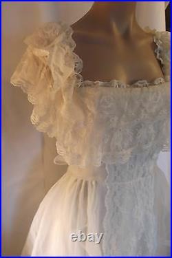 80s Loralie White Victorian Style Wedding Dress