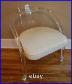Amazing Vintage Charles Hollis Jones Style Lucite Waterfall Chair