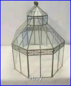 Amazing Vintage Tiffany Style Plant Terrarium Great Quality & Details Unique