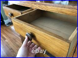 Amish Mission Style Antique Pie Safe Cabinet with 4 Punched Tin Decorative Vents