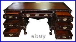 Antique 19th C. Chippendale-Style Executive Desk #5588