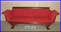 Antique American Federal Mahogany Empire Style Sofa Circa 1820