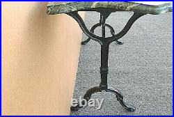 Antique French Style Italian Marble & Wrought Iron Console Sofa Entry Table 40