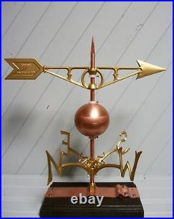 Antique Style Weather Vane wind copper ball directional compass 701