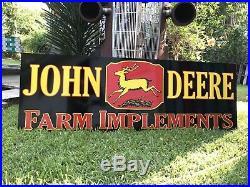 Antique Vintage Old Style John Deere Farm Sign 6 Foot