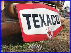 Antique Vintage Old Style Texaco Motor Oil Sign