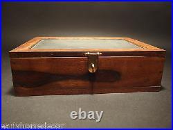 Antique Vintage Style Folding Document Writing Slope Wood Lap Desk Slate Box