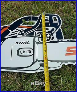 Antique Vintage Style Stihl Chain Saw Sign 4 Foot