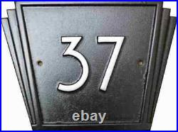 Art Deco Style House Number Plaque sign door plaque retro sign 1930s and 1940s