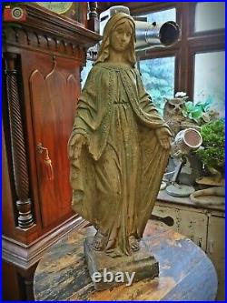 BEAUTIFUL, 79cm VERY LARGE, VIRGIN MARY FIGURE. Madonna Our Lady, Antique Style