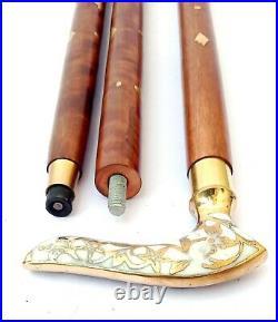 Brass Victorian Style Head Handle Walking Stick Canes Shaft Wooden walking cane