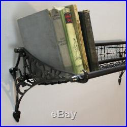Bronze Train Luggage Rack Vintage Style Big Bathroom Hall Book Towel Shelf