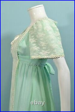 Candi Jones Corset Lace Up Prairie, Gunne Sax Style Maxi Dress, Mint Green
