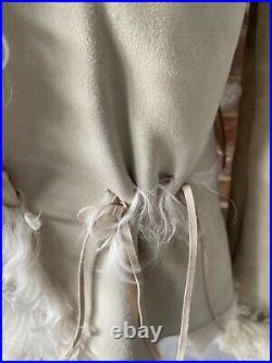 Charlotte Simone style BUT REAL Sheepskin Afghan Coat BNWT Size 8 Stunning Coat