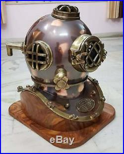 Divers Diving Helmet Scuba Style Morse Navy Mark V Antique Boston Vintage Gift