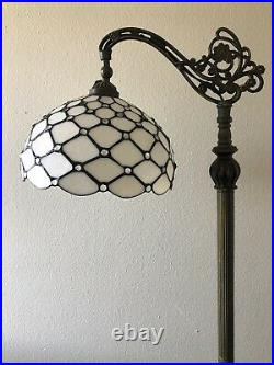 Enjoy Tiffany Style Floor Lamp Crystal Bean Stained Glass Antique Vintage H62.5
