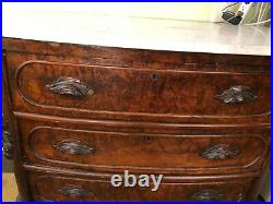 French Antique Louis XV Style Marble Top Buffet
