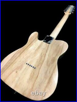 Great Playing New Burl Maple Tele Style 12 String Electric Guitar