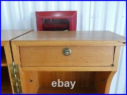 Handsome 1970's Danish Modern Style Teak Veneer Magic Box Desk