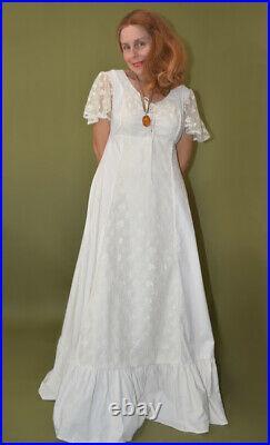 Hippie Boho Princess Corset Lace Up Gunne Sax Style Dress By Lane Bryant L/xl