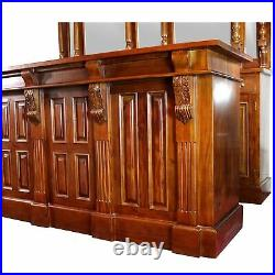 Home Bar Antique Front and Back Mahogany 8 Ft Wine Shop Counter Vintage Style