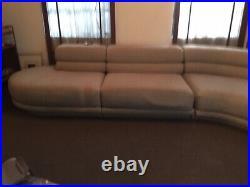 Huge Vintage 1990s Preview Furniture Vladimir Kagan Style 4 Piece Sectional Sofa