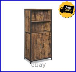 INDUSTRIAL Cabinet Tall Cupboard Kitchen Pantry Bookcase Vintage Style Unit Rack