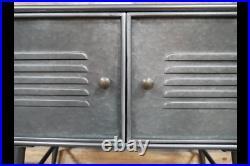 Industrial Cabinet 2 Door Metal Cabinet Vintage Style Rustic Cabinet