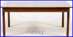 KITTINGER Solid Mahogany Dining Room Table Farmhouse Style Rectangular Table