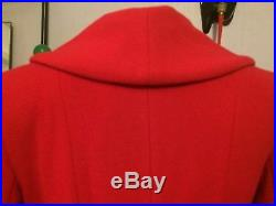 Ladies vintage 1940s/50s swing style fit and flare flattering wool Coat in Red