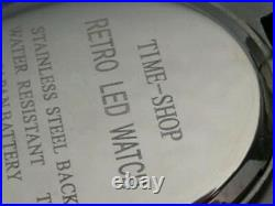MEN IN BLACK II 2 GOLD 70s Vintage Style LED LCD DIGITAL Rare Retro Mens Watch