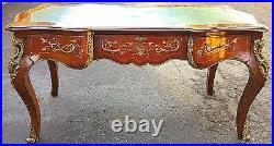 Marquetry Platt Desk French Louis XV Style Gilt-Bronze-Mounted