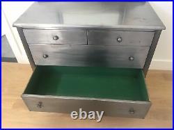 Metal Steel Antique Dresser Simmons Style