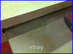 Mid Century Modern Cantilever Side End Table Curved Pace or Karl Springer Style