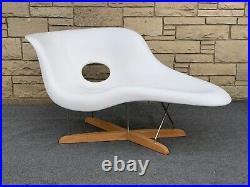 Mid Century Modern Eames La Chaise Style Lounge Chair