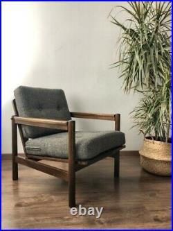 Mid Century Vintage Danish Style Armchair 1970s