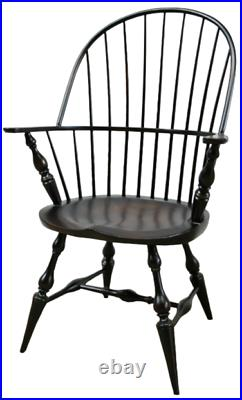 NEW US Custom Made Colonial Style Sack Back Chair Windsor Armchair Black Dining