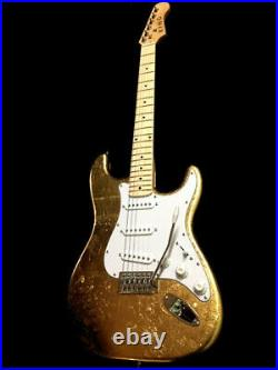 New 6 String Prince Clapton Strat Style Gold Leaf Electric Guitar