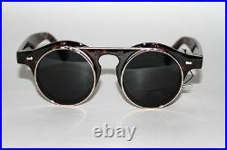 New 90's Vintage Style John Lennon Black Lenses Tortoise Frame Unisex Sunglasses