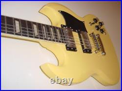 New SG Style copy 6 String Electric Guitar Vintage Blonde Set Neck Gig Bag