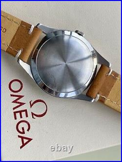 Omega Ryan Gosling style Vintage Mens Crosshair Black dial Serviced March watch