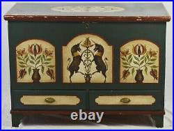 Pennsylvania Dutch Style Painted BLANKET Chest BLANKET BOX CHEST Bench Made