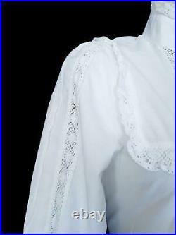 Rare Vintage Laura Ashley Victorian Style Prairie Wedding Dress, Uk 8 (vtg 12)