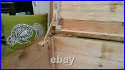 Rustic Wooden Chest Trunk Blanket Box Antique Style Coffee Table GWR TV Stand